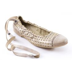 IKKS Ballerines beige or GINGER K0113