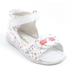 Babybotte Sandales TAHITIA blanc fleuri