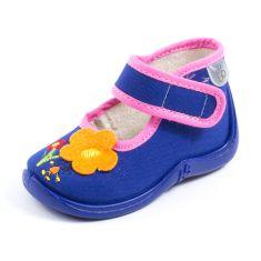 Babybotte Chaussons à scratch MAYA bleu