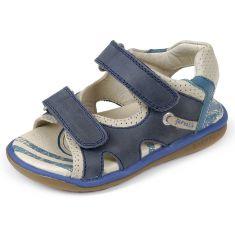 Garvalin Sandales garçon à scratchs Bleu 162462A