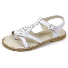 Garvalin nu-pieds Sandales Blanc à boucle 162662E