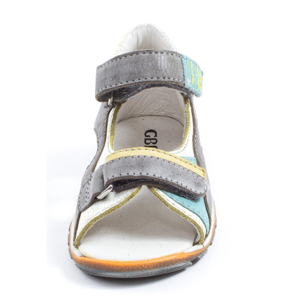 Gbb sandales gar on marcel gris turquoise for Accessoires garcons turquoise et gris