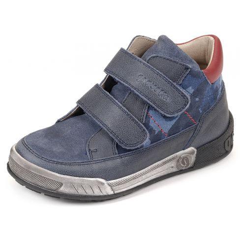Garvalin Baskets garçon bleues à scratchs 161750A EC0Gc