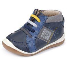 Garvalin Boots garçon bleu à fermeture 161326A