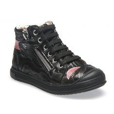 Boots enfant à fermeture noir pour fille GBB NOANE