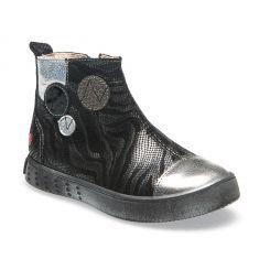 GBB Boots fille cuir noir-zebra NORINE
