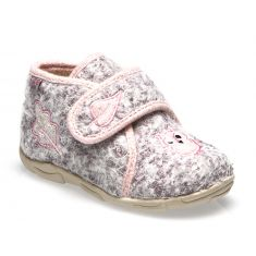 NEOPOLO Chaussons gris clair-rose GBB