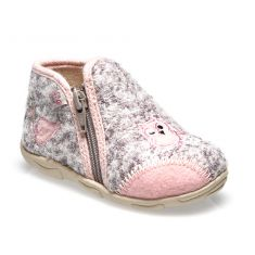 Chaussons GBB NERI gris clair-rose
