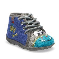 chaussons garçon à lacets NAMAZIO bleu GBB