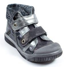Babybotte Boots noires scintillantes à scratchs pour fille ACTEUR5