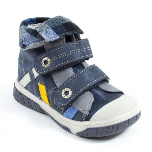 Our Acteur6 En Velcro Babybotte Bleu Boots Cuir Garçon FclK1J