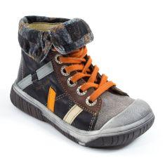 Babybotte Boots noir en cuir à lacets garçon ARTISTE6