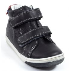 Babybotte Baskets noires garçon à scratchs ANTILLES