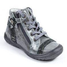Boots à fermeture fille Babybotte AMAYA gris