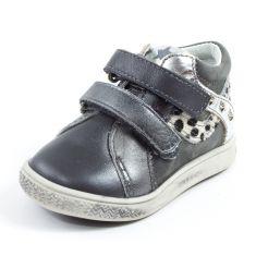 Babybotte Boots bébé fille à scratchs ANATOLI gris panthère