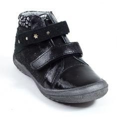Babybotte Low boot noir fille à scratchs KADO