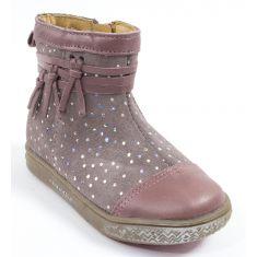 Babybotte Boots bébé fille à fermeture AMBALABA rose paillette