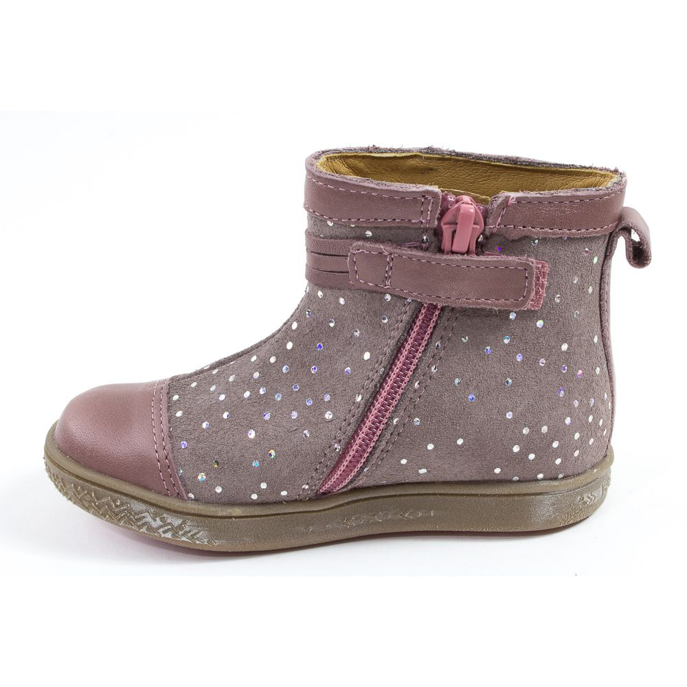 edae3ef813ef3 ... Babybotte Boots bébé fille à fermeture AMBALABA rose paillette ...