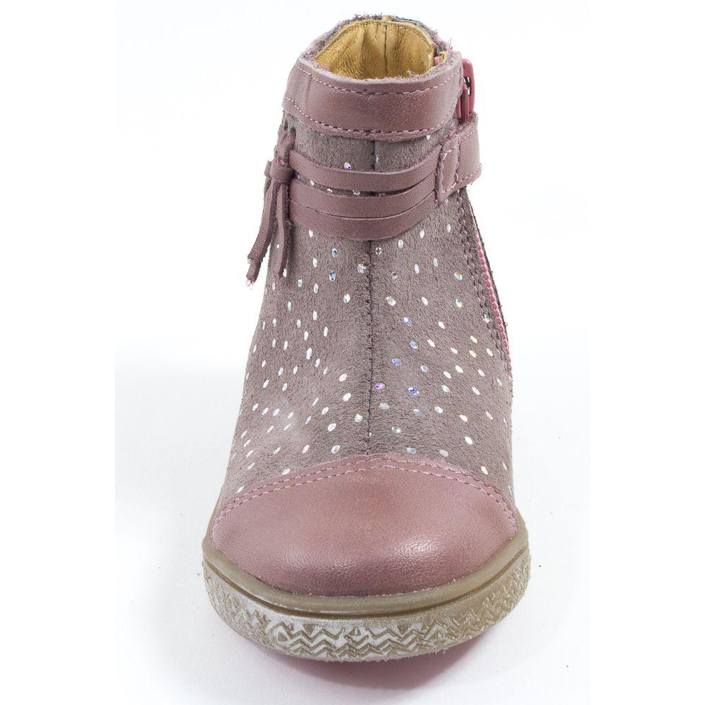 Babybotte Boots bébé fille à fermeture AMBALABA rose paillette qzdflfd1