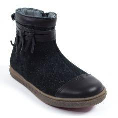 Babybotte Boots bébé fille à fermeture AMBALABA noir