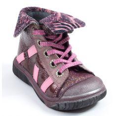 Babybotte Boots à lacets et revers fille ARTISTE5 rose