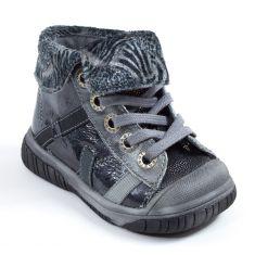 Babybotte Boots à lacets noir brillant pour fille ARTISTE5