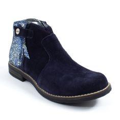 Babybotte Boots à fermeture fille nubuck KENZA bleu marine