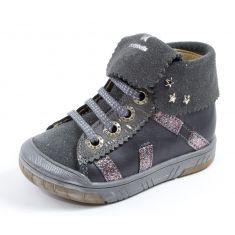 Babybotte Boots à lacets fille ARTISTAR GRIS