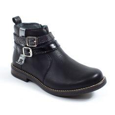 TTY - TWO-SIDE Boots fille ado à fermeture NUIT noir