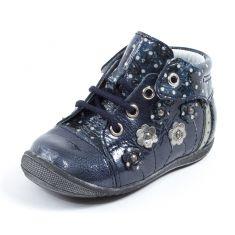 Bottines bleues à lacets GBB pour fille NAYANA