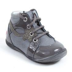 Boots grises à lacets NOEMIE GBB