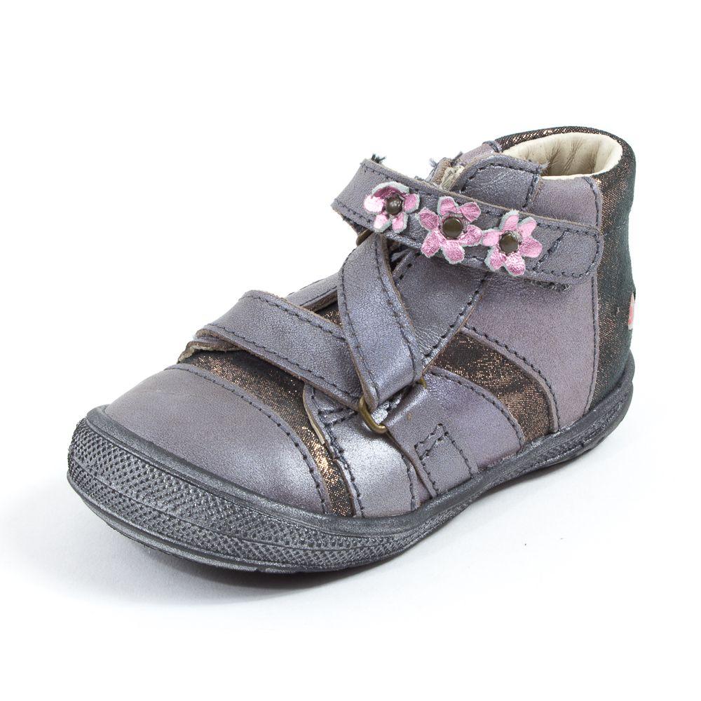 Chaussures pour pieds larges à scratch GBB roses fille ia7bTPDqst