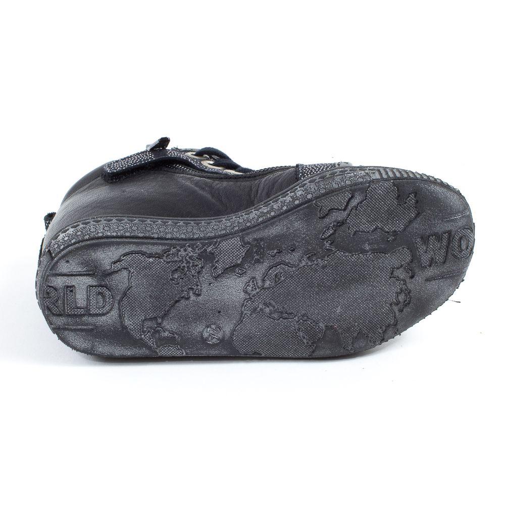 Le Loup Blanc Boots fille à lacets HEMATITE noir zowjgPa2oW