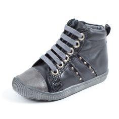 Le Loup Blanc Boots grises fille à lacets HEMATITE
