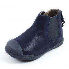 Boots fille MOD8 à franges KULT bleu marine
