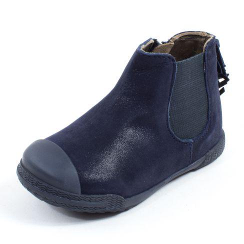 site professionnel marque célèbre factory Boots fille MOD8 à franges KULT bleu marine