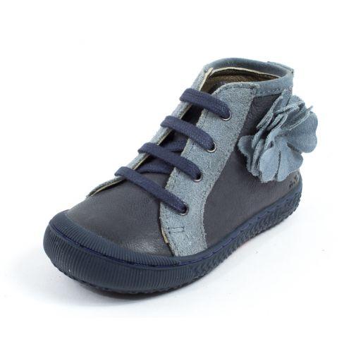 Bottines bébé fille à lacets MOD8 SNOOP bleu jeans
