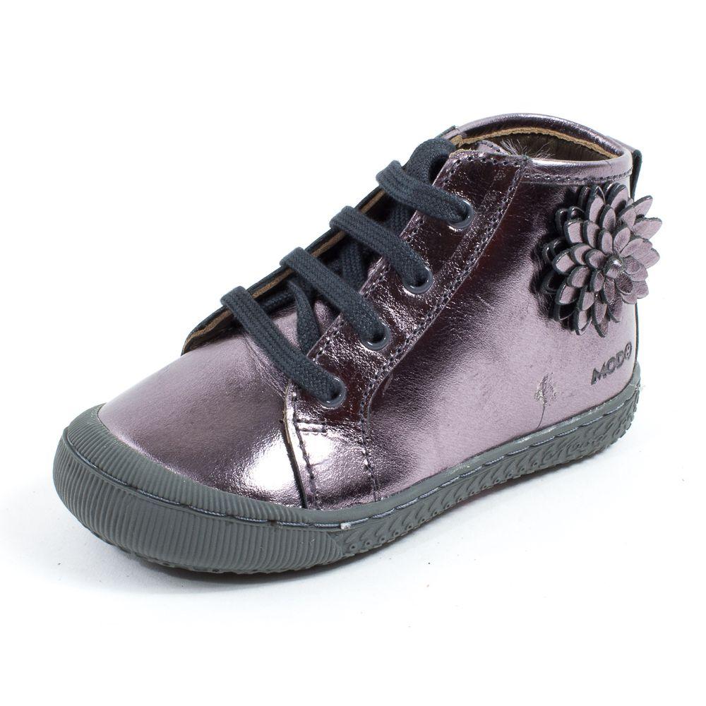 Chaussures bébé MOD 8 Bottillon bleu à lacets LOU IWlTTIOoq