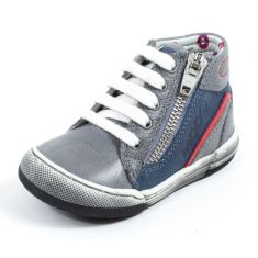 Basket Sneakers garçon Mod8 cuir ZUT gris