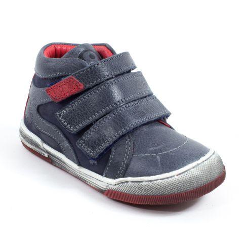 Mod8 Sneakers haut garçon ZOMBI bleu à scratchs