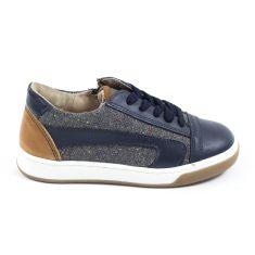 Chaussures garçon Baskets bleu à lacets Garvalin 161758A
