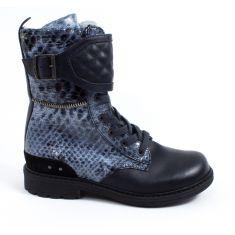 Boots IKKS KIMBERLEY bleu python K0542