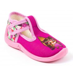 Chaussons MIKI FUCHSIA/INDIENNE