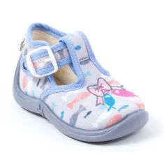 Chaussons MIMOSA Babybotte GRIS/POISSON