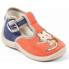 Chaussons montants garçon MIMOSA Babybotte orange chat