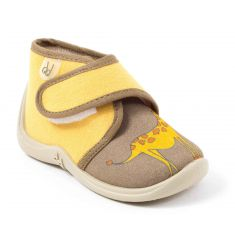Chaussons MANITOU BEIGE+ORANGE-GIRAFE