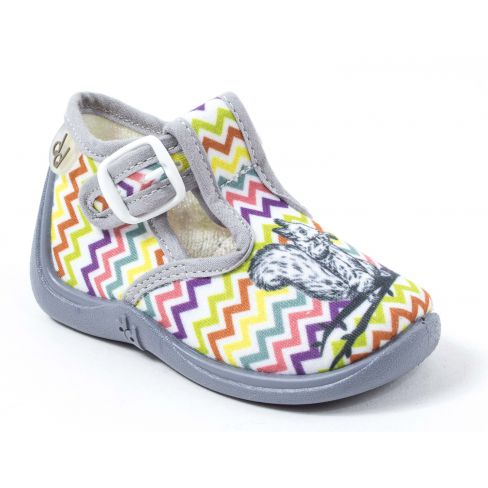 Chaussons MIMOSA Babybotte MULTICOLORE/ECUREUIL