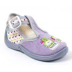 Chaussons MIMOSA Babybotte GRIS/ANIS/CACTUS