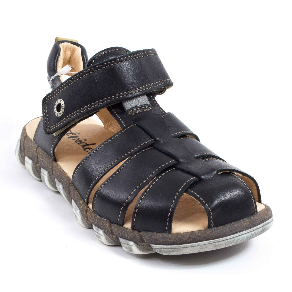 babybotte sandales enfant gar on noir king taille 24. Black Bedroom Furniture Sets. Home Design Ideas