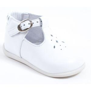 chaussure enfant pas cher ballerines fille cuir blanche. Black Bedroom Furniture Sets. Home Design Ideas